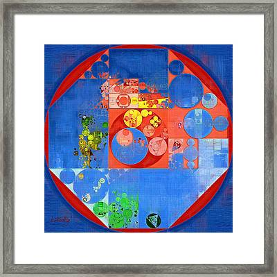 Abstract Painting - United Nations Blue Framed Print by Vitaliy Gladkiy