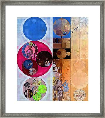Abstract Painting - Wafer Framed Print by Vitaliy Gladkiy
