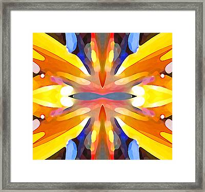 Abstract Paradise Framed Print by Amy Vangsgard