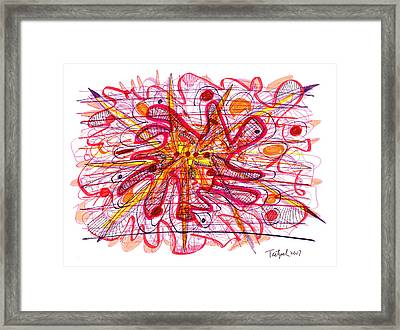 Abstract Pen Drawing Fifteen Framed Print by Lynne Taetzsch