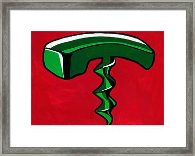 Abstract Phone And Corkscrew  By Ivailo Nikolov Framed Print by Boyan Dimitrov