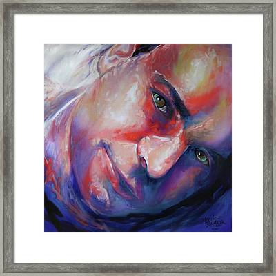 Abstract Portrait Framed Print by Marcia Baldwin