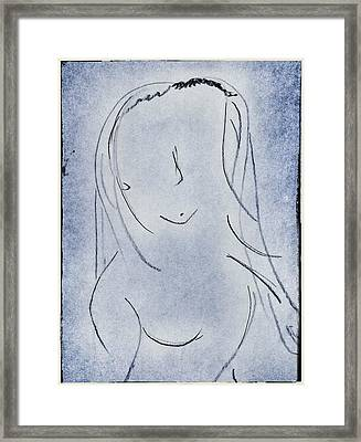 Abstract Portrait Framed Print by Ryan Adams