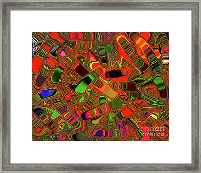 Abstract Rainbow Slider Explosion Framed Print by Andee Design