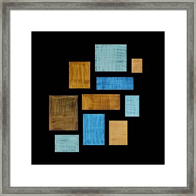 Abstract Rectangles Framed Print by Frank Tschakert