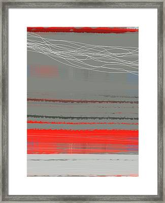 Abstract Red 2 Framed Print by Naxart Studio
