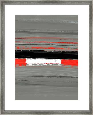 Abstract Red 4 Framed Print by Naxart Studio