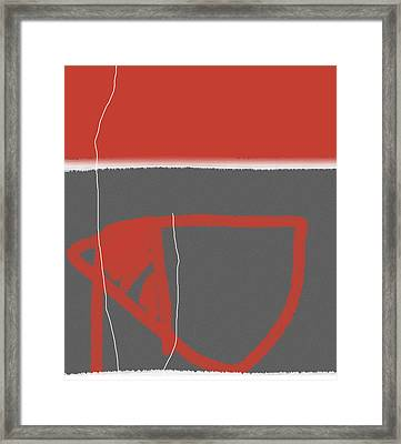Abstract Red Framed Print by Naxart Studio
