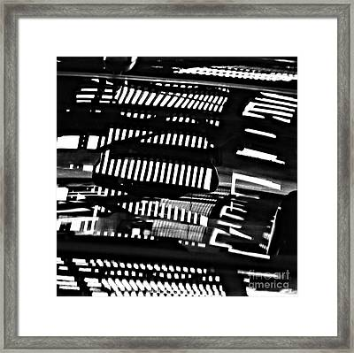 Abstract Reflection 4 Framed Print by Sarah Loft