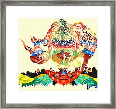 Abstract Rhinoceros  Framed Print by Dan Sproul