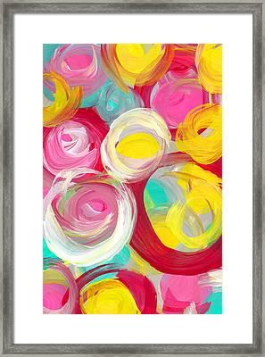 Abstract Rose Garden In The Morning Light Vertical 2 Framed Print by Amy Vangsgard