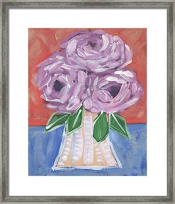 Abstract Roses Framed Print by Catherine Lee
