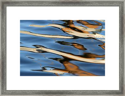 Abstract Sailboat Reflection Framed Print by Juergen Roth