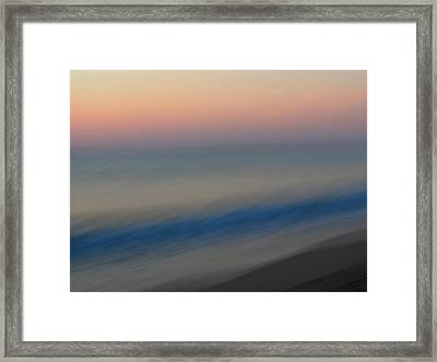 Abstract Seascape 1 Framed Print by Juergen Roth