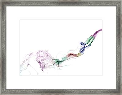 Abstract Smoke Framed Print by Setsiri Silapasuwanchai