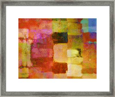 Abstract Study One Framed Print by Ann Powell