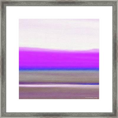 Abstract Sunset 65 Framed Print by Gina De Gorna