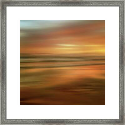 Abstract Sunset Illusions - Gold Framed Print by Joann Vitali
