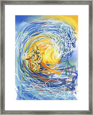 Abstract Surfer 41 Framed Print by Robert Yaeger