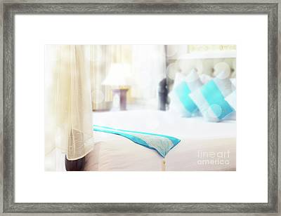 Abstract Thai Style Bedroom Framed Print by Atiketta Sangasaeng