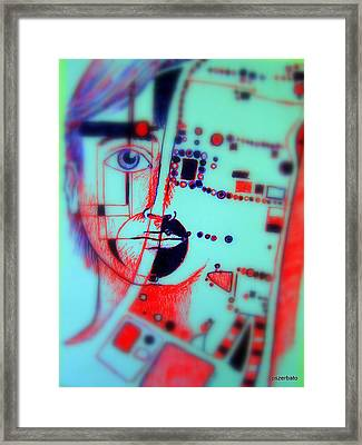 Abstract Thought Framed Print by Paulo Zerbato