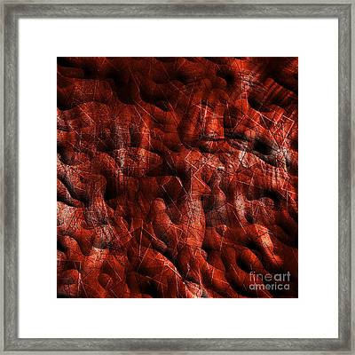 Deep Orange Bumps - Abstract Tiles No. 16-0106 Framed Print by Jason Freedman