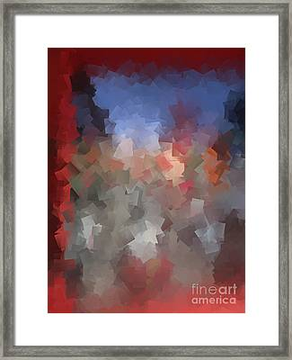 Red And Blue - Abstract Tiles No. 16.0110 Framed Print by Jason Freedman