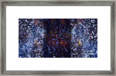 Blue Panorama - Abstract Tiles No15.1227 Framed Print by Jason Freedman