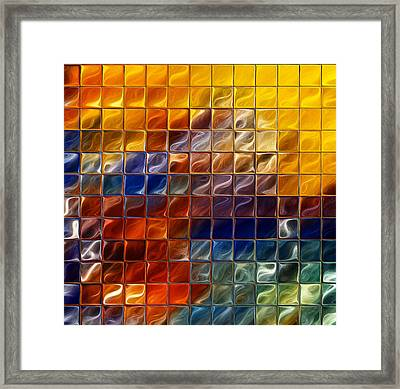 Abstract -tiles Framed Print by Patricia Motley