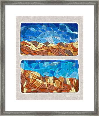 Abstract Tiles - Rocks And Sky No. 14-0225 Framed Print by Jason Freedman