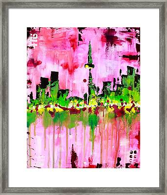 Abstract Toronto Skyline Framed Print by Kayla Mallen