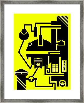 Abstract Urban 03 Framed Print by Dar Geloni