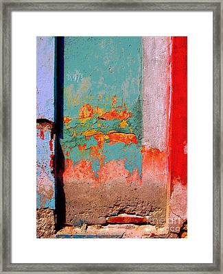 Abstract Wall By Michael Fitzpatrick Framed Print by Mexicolors Art Photography