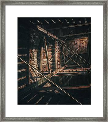 Abstract Wood Construction Framed Print by Ingo Menhard