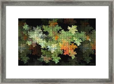 Abstract World Framed Print by Deborah Benoit