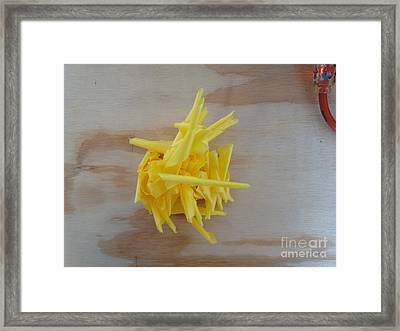 Abstract Yellow No. One Framed Print by Jason Freedman
