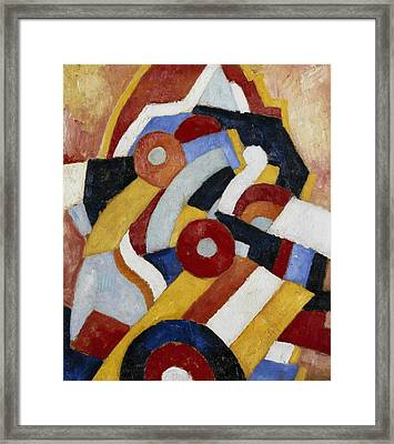 Abstraction Framed Print by Marsden Hartley