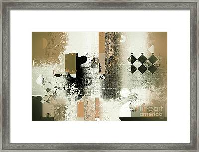 Abstracture - 21gold01 Framed Print by Variance Collections