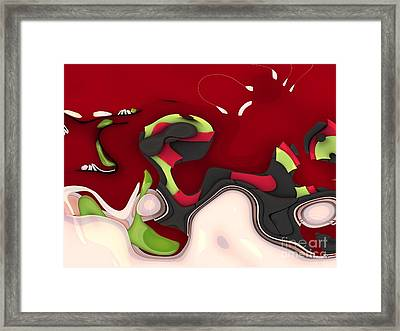 Abstrakto - 95a Framed Print by Variance Collections