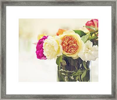 Abundance Of Florabunda Framed Print by Heather Applegate