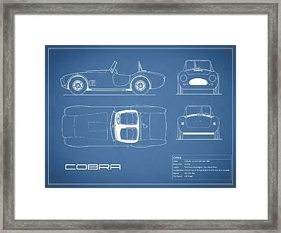 Ac Cobra Blueprint Framed Print by Mark Rogan