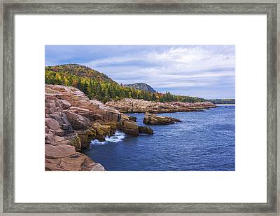 Acadia's Coast Framed Print by Chad Dutson