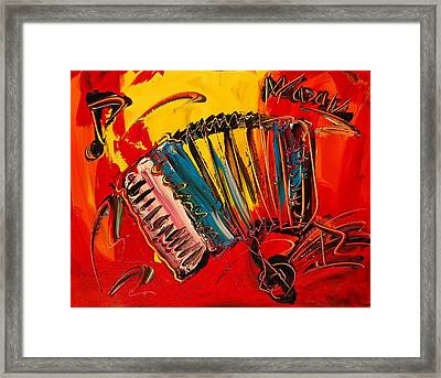 Accordeon Framed Print by Mark Kazav