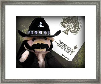 Ace Of Spades Framed Print by Piggy