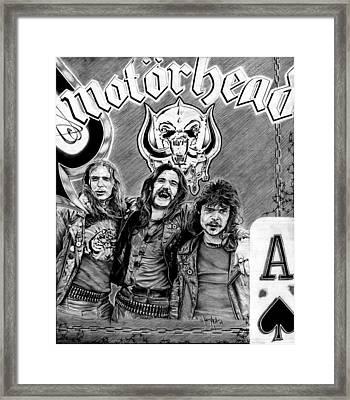 Ace Of Spades Framed Print by Rockart