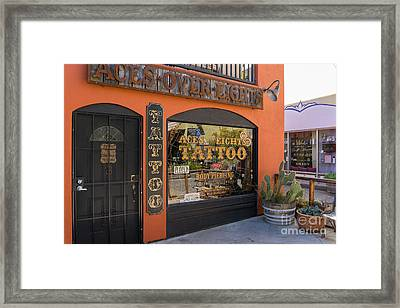 Aces Over Eights Tattoo Parlor Petaluma California Usa Dsc3858 Framed Print by Wingsdomain Art and Photography