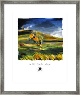 Achill Island Ireland Autumn Colors Framed Print by Bob Salo