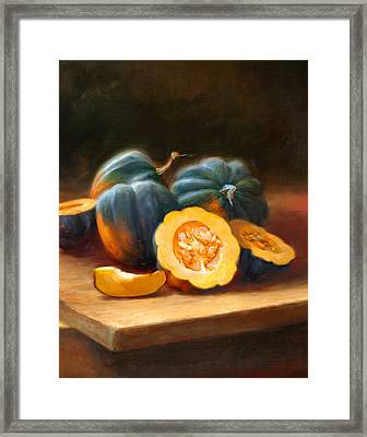 Acorn Squash Framed Print by Robert Papp