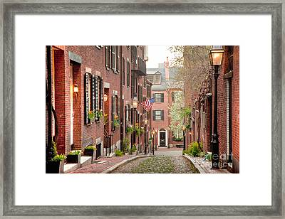 Acorn Street Framed Print by Susan Cole Kelly
