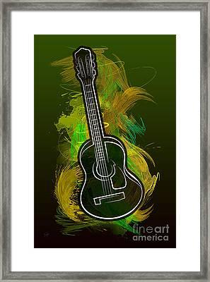 Acoustic Craze Framed Print by Bedros Awak